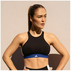 adidas Womens VRCT Sports Bra Black XS, Black, rebel_hi-res