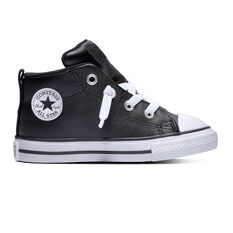 Converse Chuck Taylor All Star Street Toddlers Shoes Black / White 4, Black / White, rebel_hi-res