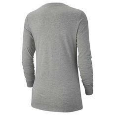 Nike Womens Sportswear Long Sleeve Top Grey XS, Grey, rebel_hi-res