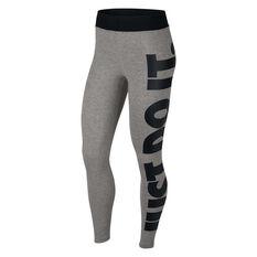 Nike Womens Leg A See Just Do It Tights Grey XS, Grey, rebel_hi-res