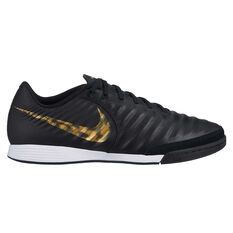 Nike Tiempo LegendX VII Academy Mens Indoor Soccer Shoes Black / Gold US 7, Black / Gold, rebel_hi-res