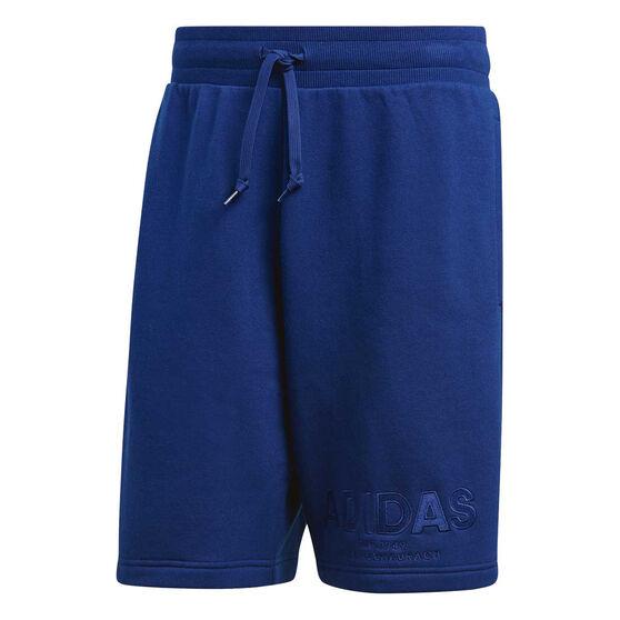 adidas Mens Essentials All Caps Shorts Blue M, Blue, rebel_hi-res