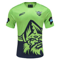 Canberra Raiders 2021 Mens Run Out Tee Green S, Green, rebel_hi-res