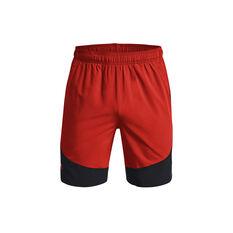 Under Armour Mens HIIT Woven Colourblock Shorts Red S, , rebel_hi-res