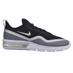 Nike Air Max Sequent 4.5 PR Womens Casual Shoes Black / White US 6, Black / White, rebel_hi-res