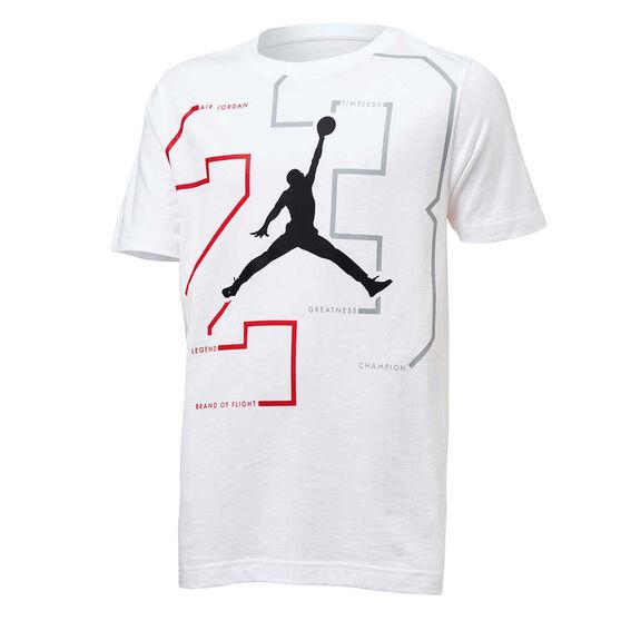 Nike Boys Jordan Path Of Greatness Tee, White, rebel_hi-res