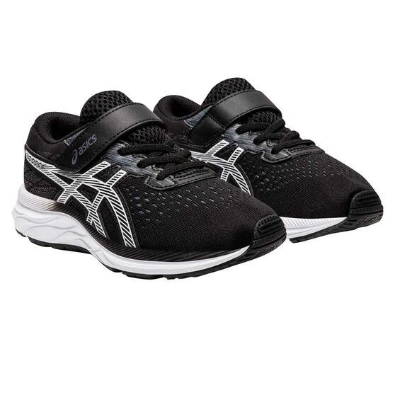 Asics GEL Excite 7 Kids Running Shoes, Black / White, rebel_hi-res