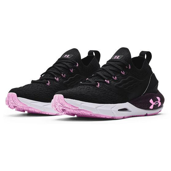 Under Armour HOVR Phantom 2 Womens Running Shoes, Black/Purple, rebel_hi-res