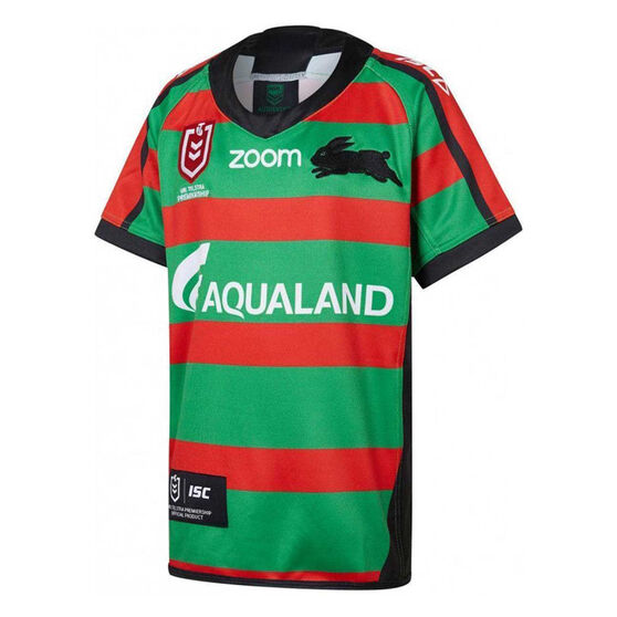 South Sydney Rabbitohs 2019 Kids Home Jersey, Red / Green, rebel_hi-res