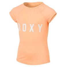 Roxy Pool Days Short Sleeve Lycra Orange 8, Orange, rebel_hi-res