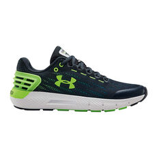 Under Armour Charged Rogue Kids Running Shoes Green US 4, Green, rebel_hi-res