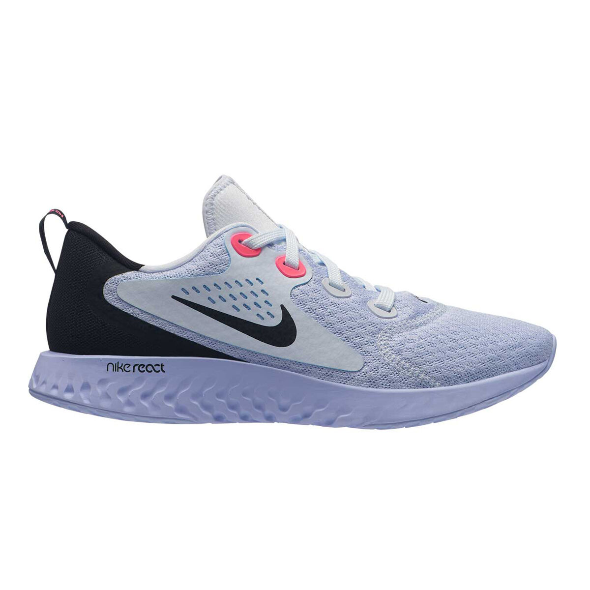 Nike Legend React Womens Running Shoes Grey Purple US 6