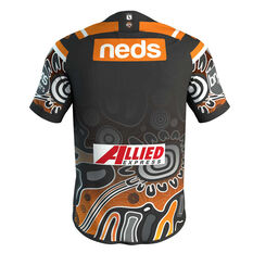 Wests Tigers 2019 Mens Indigenous Jersey Black S, Black, rebel_hi-res