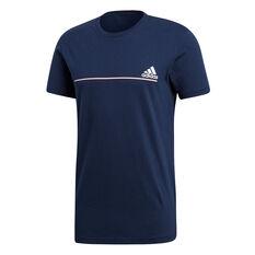 adidas Mens Number Sportswear Tee Navy S, Navy, rebel_hi-res