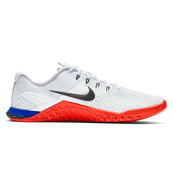 Nike Metcon 4 XD Womens Training Shoes, White / Blue, rebel_hi-res