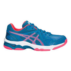 Asics Gel Netburner Academy 7 Womens Netball Shoes Blue / Pink US 7, Blue / Pink, rebel_hi-res