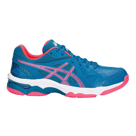 Asics Gel Netburner Academy 7 Womens Netball Shoes Blue / Pink US 8, Blue / Pink, rebel_hi-res
