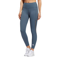 adidas Womens Alphaskin HEAT.RDY 7/8 Tights, Blue, rebel_hi-res