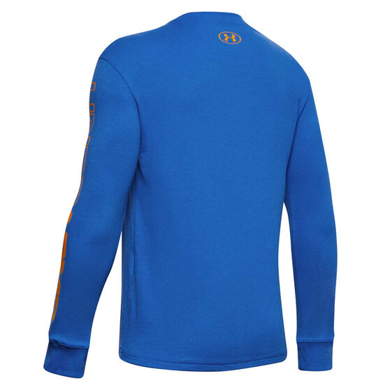 Under Armour Boys Only Beasts Basketball Top Blue XS, Blue, rebel_hi-res