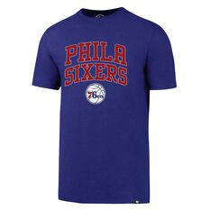 47 Brand Mens Philadelphia 76ers Splitter Tee Purple S, Purple, rebel_hi-res