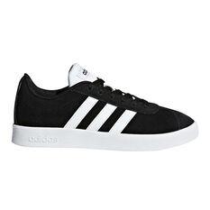 adidas VL Court 2.0 Kids Casual Shoes Black / White US 11, Black / White, rebel_hi-res