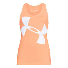 Under Armour Womens Tech Graphic Tank, Pink, rebel_hi-res