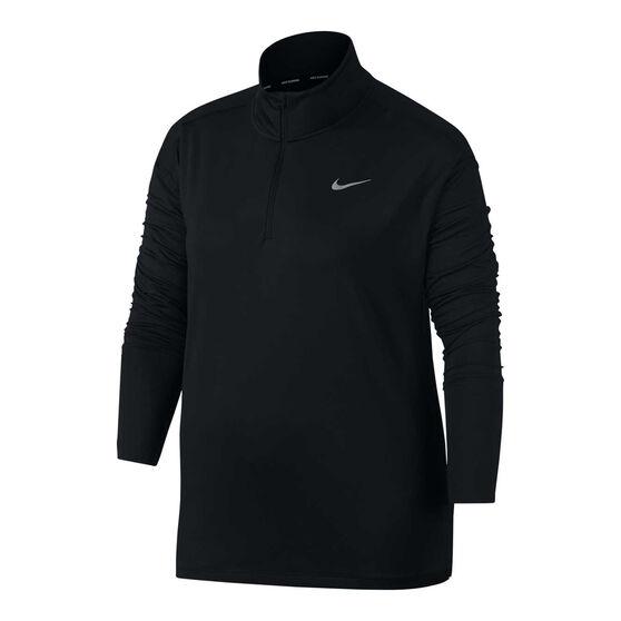 Nike Womens Element Half Zip Running Top, , rebel_hi-res