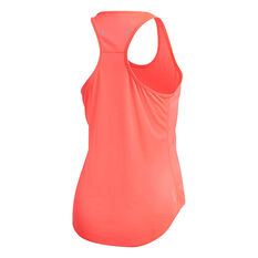 adidas Womens 3-Stripes Run It Tank Orange XS, Orange, rebel_hi-res