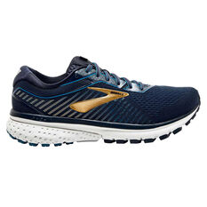 Brooks Ghost 12 Mens Running Shoes Navy / Gold US 7, Navy / Gold, rebel_hi-res