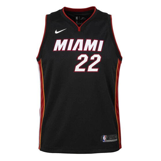 Nike Miami Heat Jimmy Butler 2020/21 Kids Icon Swingman Jersey Black S, Black, rebel_hi-res