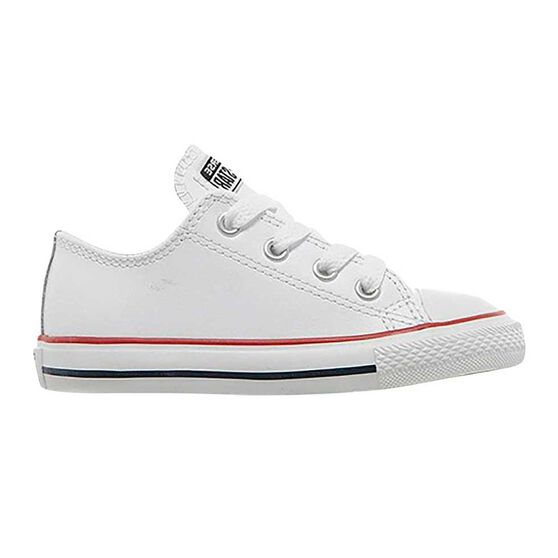 Converse Chuck Taylor All Star Low Top Leather Toddlers Shoes White US 4 c4d7cf239