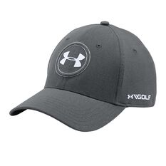 Under Armour Mens Jordan Spieth Tour Cap Grey / White M / L Adult, Grey / White, rebel_hi-res