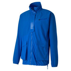 Puma x First Mile Mens Mono Training Jacket Blue S, Blue, rebel_hi-res