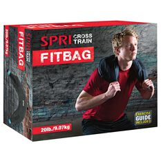 SPRI 9.1kg Cross Train Fit Bag Black, , rebel_hi-res