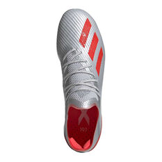 adidas X 19.1 Football Boots, Silver / Red, rebel_hi-res