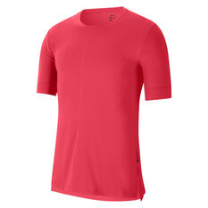 Nike Mens Dri Fit  Yoga Tee Red S, Red, rebel_hi-res