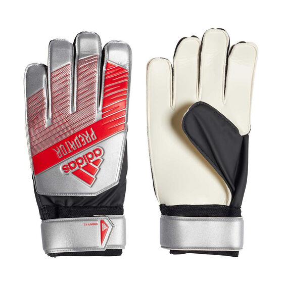 adidas Predator Training Goalkeeper Gloves, Silver / Black, rebel_hi-res