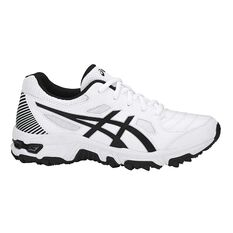 Asics Gel Trigger 12 Kids Cross Training Shoes White / Black US 1, White / Black, rebel_hi-res