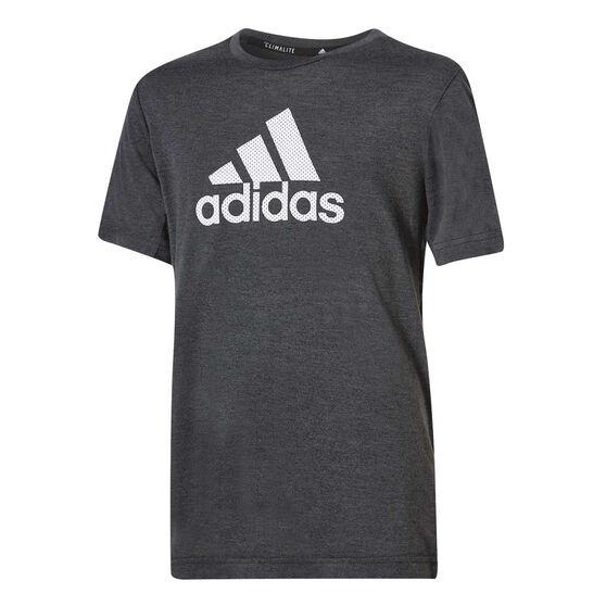 adidas Boys Training Prime Tee Black / Grey 8, Black / Grey, rebel_hi-res
