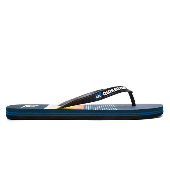 Quiksilver Molokai Slab Mens Thongs, Black / Blue, rebel_hi-res