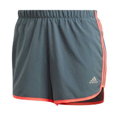 adidas Womens Marathon 20 Running Shorts Blue XS, Blue, rebel_hi-res