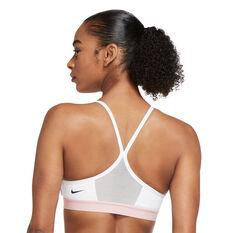 Nike Womens Dri-FIT Indy Light Support Padded Sports Bra Grey XS, Grey, rebel_hi-res
