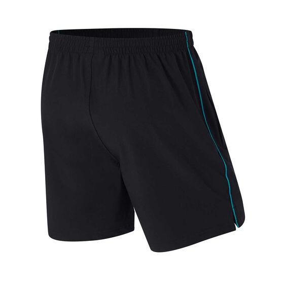 Port Adelaide Mens Core Training Shorts, Black, rebel_hi-res