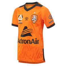 Brisbane Roar 2019/20 Kids Home Jersey Orange 8, Orange, rebel_hi-res