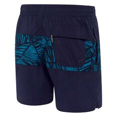 Speedo Mens Classic Panel Board Shorts Blue / Print S, Blue / Print, rebel_hi-res