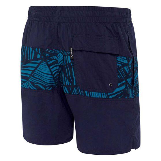 Speedo Mens Classic Panel Board Shorts, Blue / Print, rebel_hi-res
