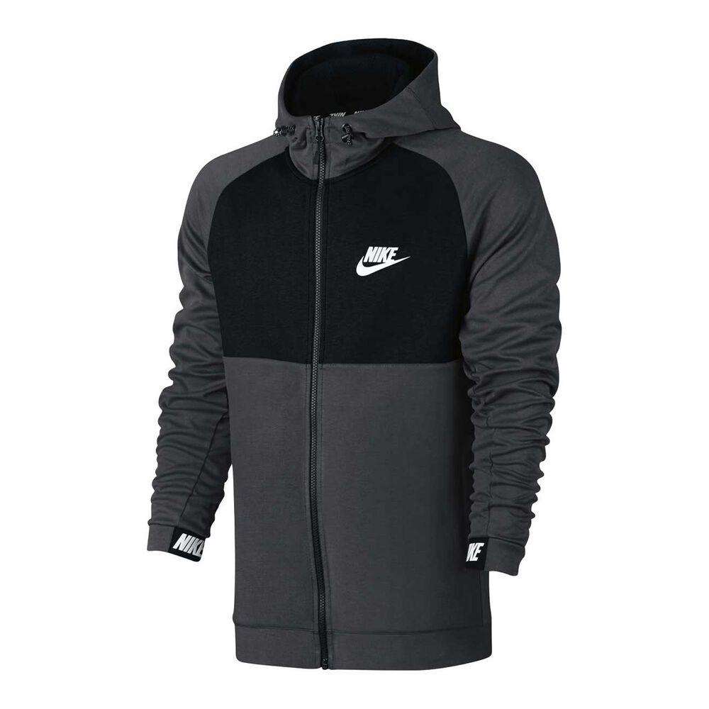 Nike Mens Sportswear Advance 15 Hoodie Grey   Black S adult  7c2378a63
