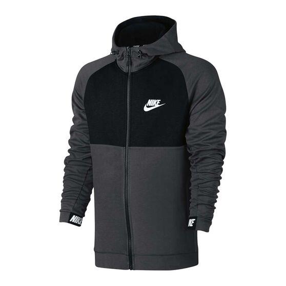 bfe1b7d0e7e8 Nike Mens Sportswear Advance 15 Hoodie Grey   Black S adult