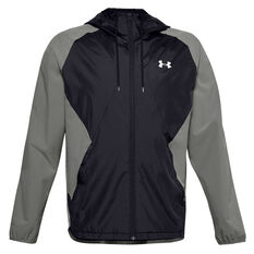 Under Armour Mens Stretch Woven Full Zip Jacket Green S, Green, rebel_hi-res
