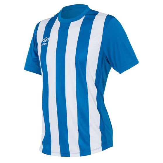 Umbro Mens Striped Jersey, Royal Blue / White, rebel_hi-res